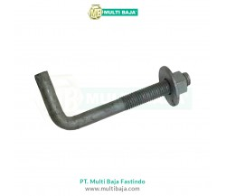 Besi Beton ST41 S45C Angkur L Bolt 90 Degrees / Anchor Bolt