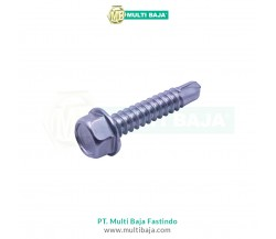 Stainless Steel : SUS 304 Baut Roofing (Hex Self Drilling Screw) DIN7540