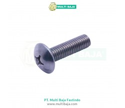 Stainless Steel : SUS 304 TJP Truss Head Machine Screw DIN7985